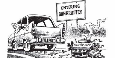 Depending on the kindness of strangers:The only sure result of Detroit's bankruptcy is that armies of lawyers will make bales of money