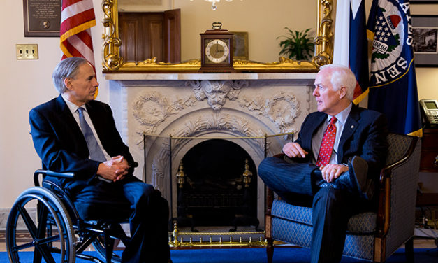 Cornyn Meets with Gov. Greg Abbott