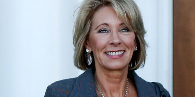 U.S. Secretary of Education Betsy DeVos' speaks to the National Lieutenant Governors Association