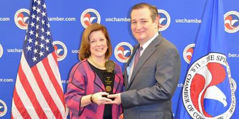 U.S. Chamber of Commerce Recognizes Sen. Cruz with 'Spirit of Enterprise' Award