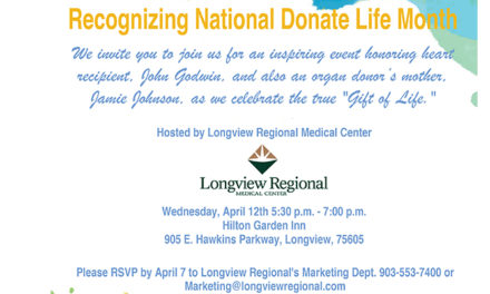 Longview Regional Medical Center to Host Free Event Recognizing National Donate Life Month