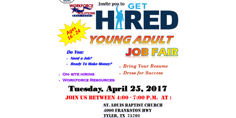Young Adult Job Fair Set for Tuesday