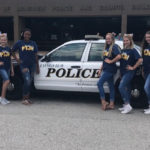 PTJH CHEERLEADERS PARTICIPATE IN 2ND ANNUAL BACK THE BLUE SERVICE PROJECT