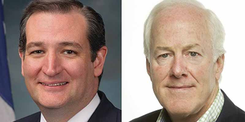 Cornyn, Cruz Praise Passage of Texas Judicial, U.S. Attorney Nominees