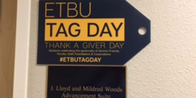 ETBU shows appreciation to donors through TAG Day