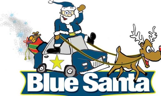 Blue Santa comes to Downtown Tyler