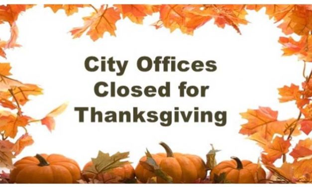 City Offices Closing for Thanksgiving