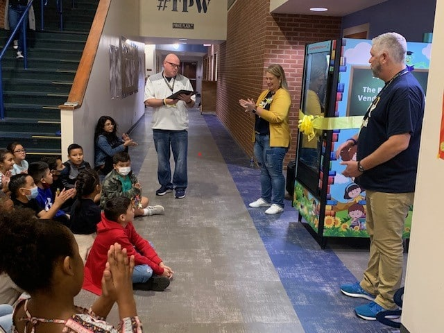 Reading: Pathway to Greatness Parkway Elementary School invests in reading, unveils bookworm vending machine